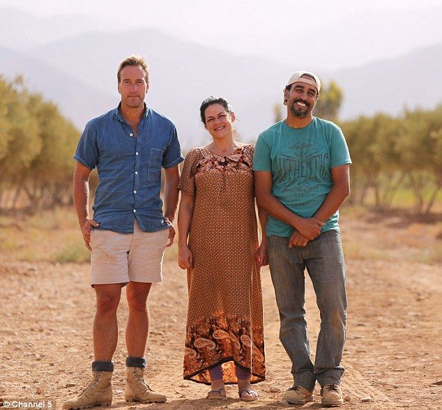 Ben Fogle (left) with Dina (middle) and Mostafa (right) Jobbour, who swapped their affluen...
