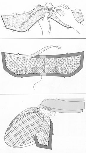 Padstitching a Collar (illo from the Reader's Digest Complete Guide to Sewing) | Brooks Ann Camper Bridal Couture