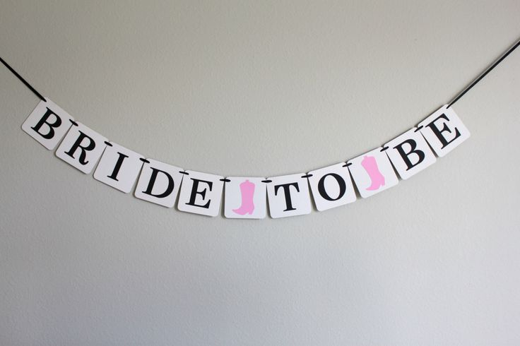 bridal shower banner - bridal shower decorations - custom wedding decorations - cowgirl bridal shower - rustic chic - Bride to Be by thebannercompany on Etsy https://www.etsy.com/listing/186836111/bridal-shower-banner-bridal-shower