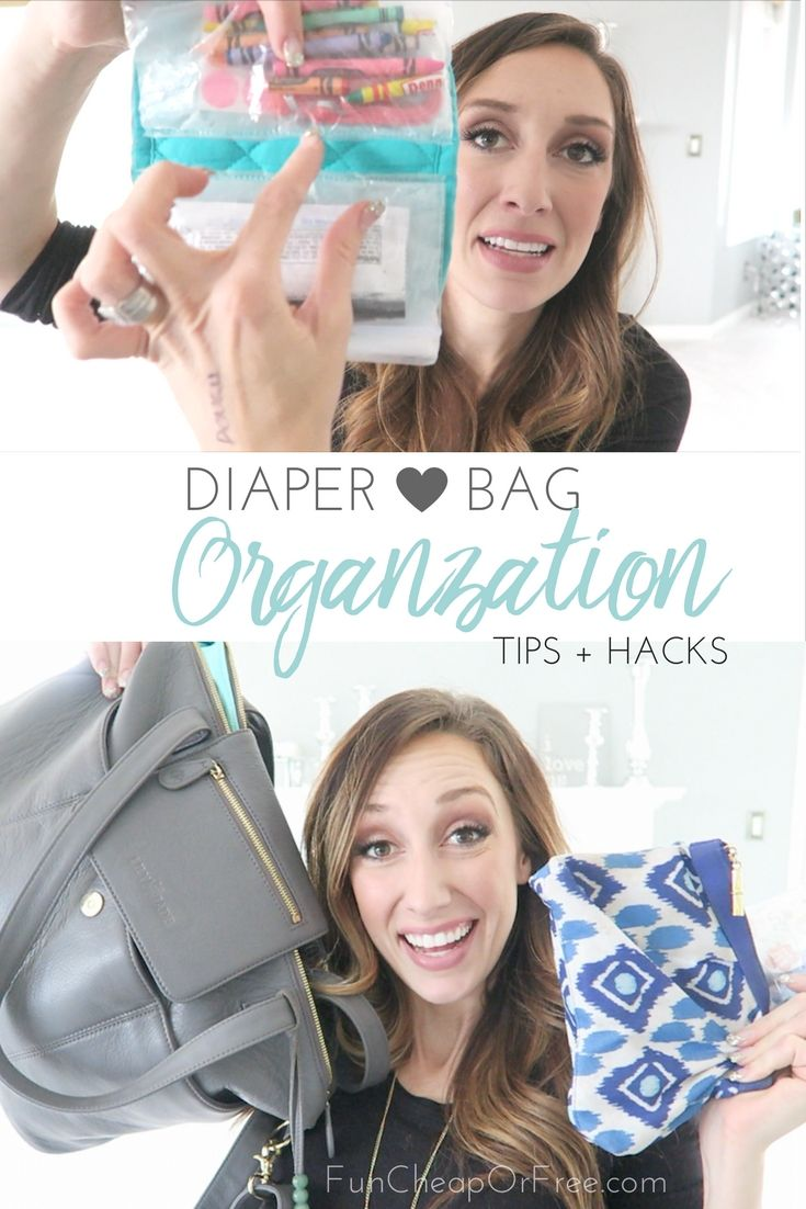 Diaper bag organization tips and hacks! From FunCheapOrFree.com