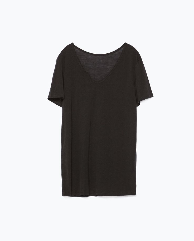 EXTRA LONG T-SHIRT-Short Sleeve-T-shirts-WOMAN | ZARA United States