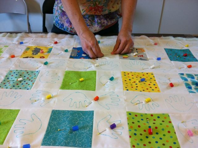 Quilt Tacking & Binding Basics - Part 5: Hand-Stitching The ... : quilt tacking - Adamdwight.com