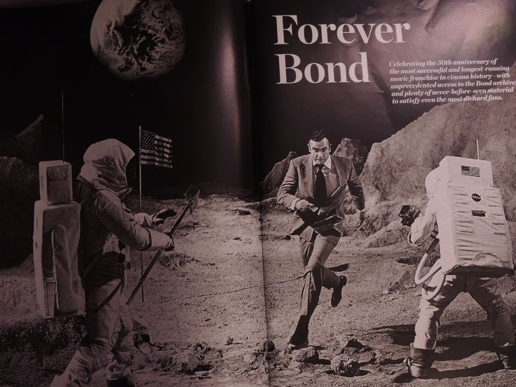 When Bond infiltrates the Techtronics research center in Diamonds Are Forever (1971), he discovers that the diamonds are beign used to arm a satellite with a laser beam. When he is discovered in the lab, he escapes across a lunar landscape film set being used for fake moon landing footage.