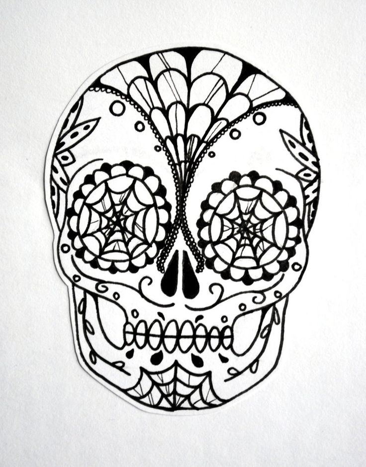 21 best Sugar Skull Tattoo Designs Black And White images ...