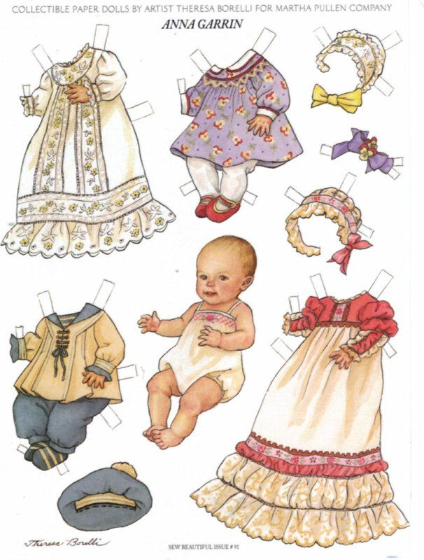 Anna Garrin Paper Doll Baby With Clothes