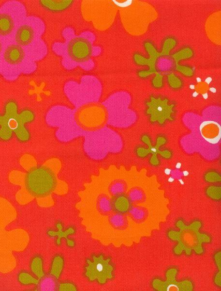 """Pop-satiini""Vintage Finnish Finlayson Fabric designed by Raili Konttinen in 1968."