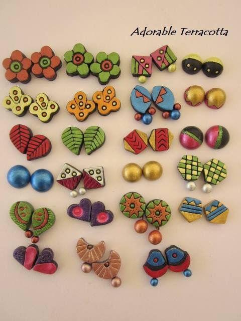 Pin By Sirisha Kundurthy On Terracotta Earrings
