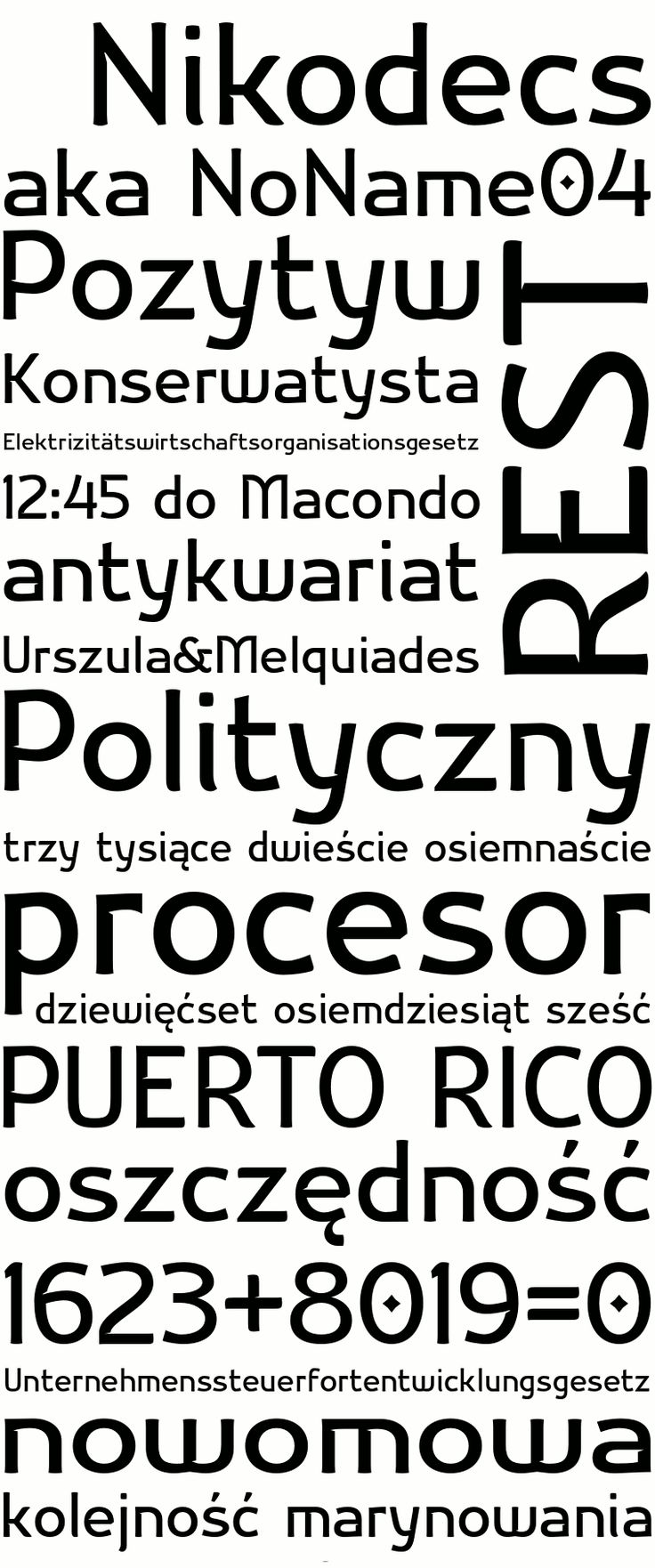 Font Nikodecs from glukfonts.pl