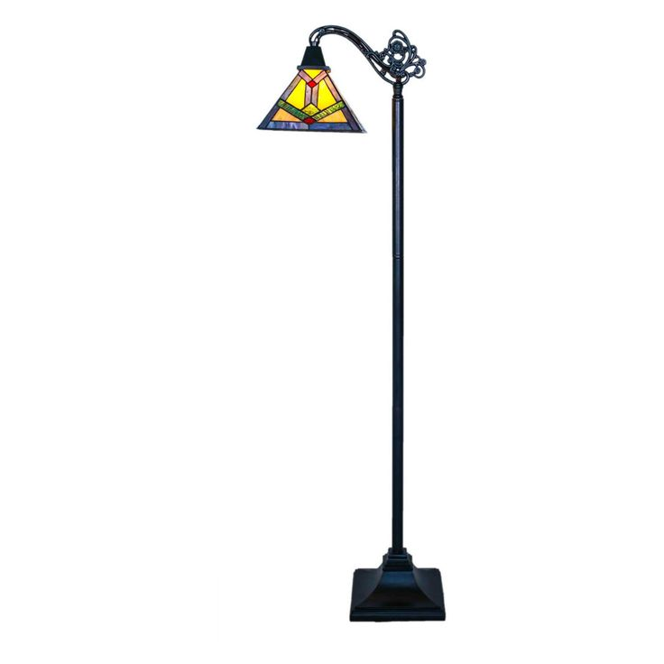 River of Goods Stained Glass Southwestern Sunrise Side Arm Floor Lamp - 15040