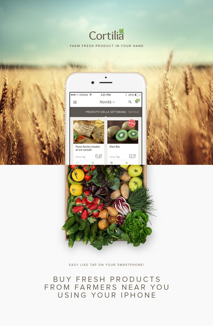 Cortilia App on Behance