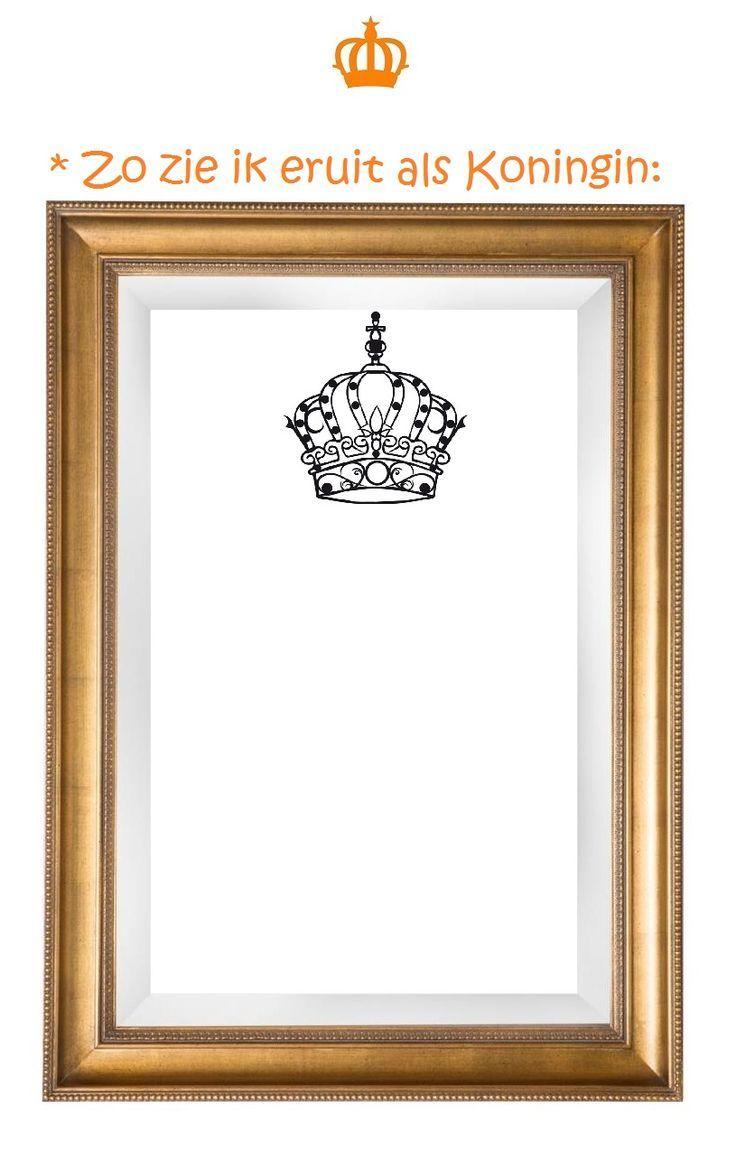 Afbeeldingsresultaat voor teken jezelf als koning of koningin