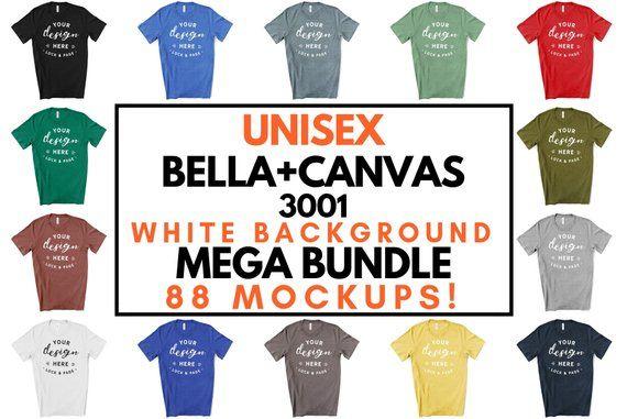 Download Unisex T Shirt Mockup Bella Canvas 3001 Mega Bundle All 121 Etsy Tshirt Mockup Design Mockup Free Free Packaging Mockup