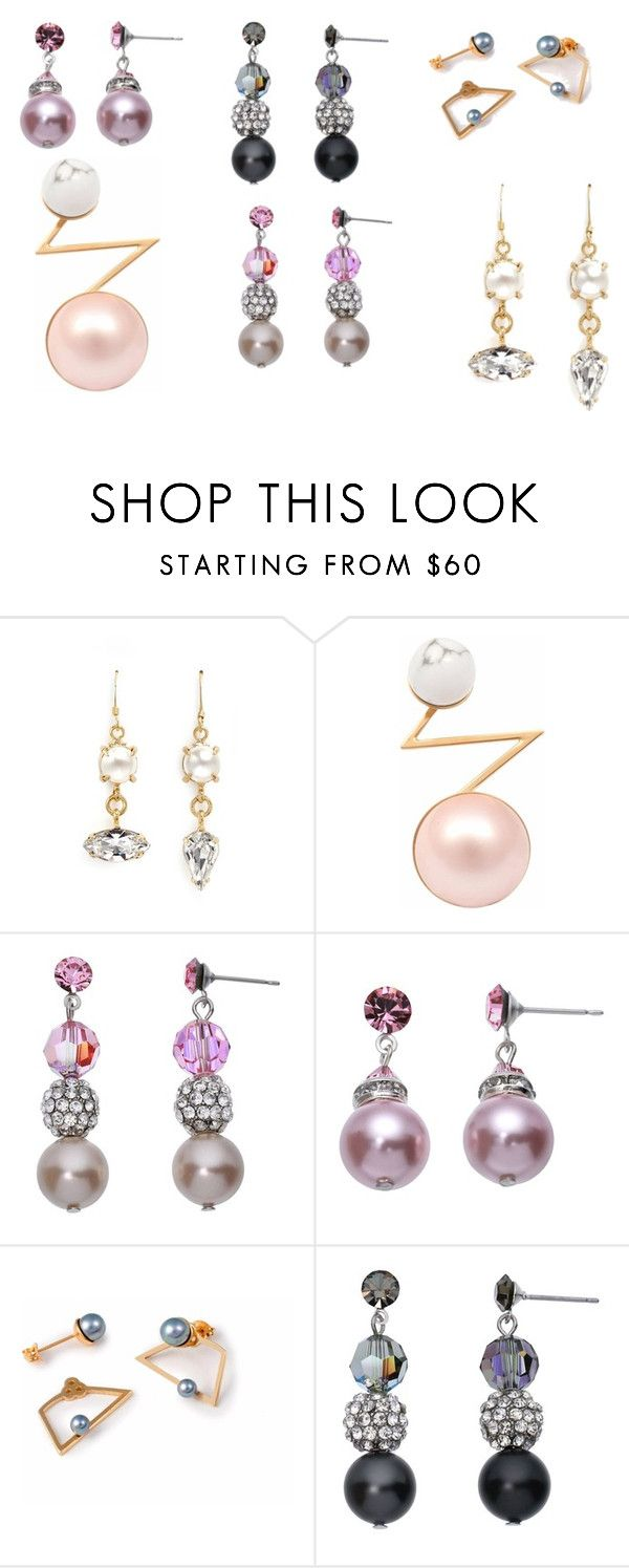 PEARL EARRINGS by fultonhoward on Polyvore featuring LeiVanKash, Joomi Lim and Crystal Avenue
