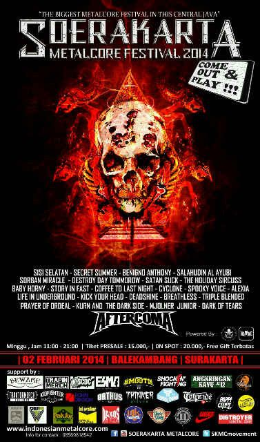 "Ayo meliar di Surakarta, saksikanlah The Biggest Metalcore Festival ""Soerakarta Metalckore Festival '14 @SKMCmovement"