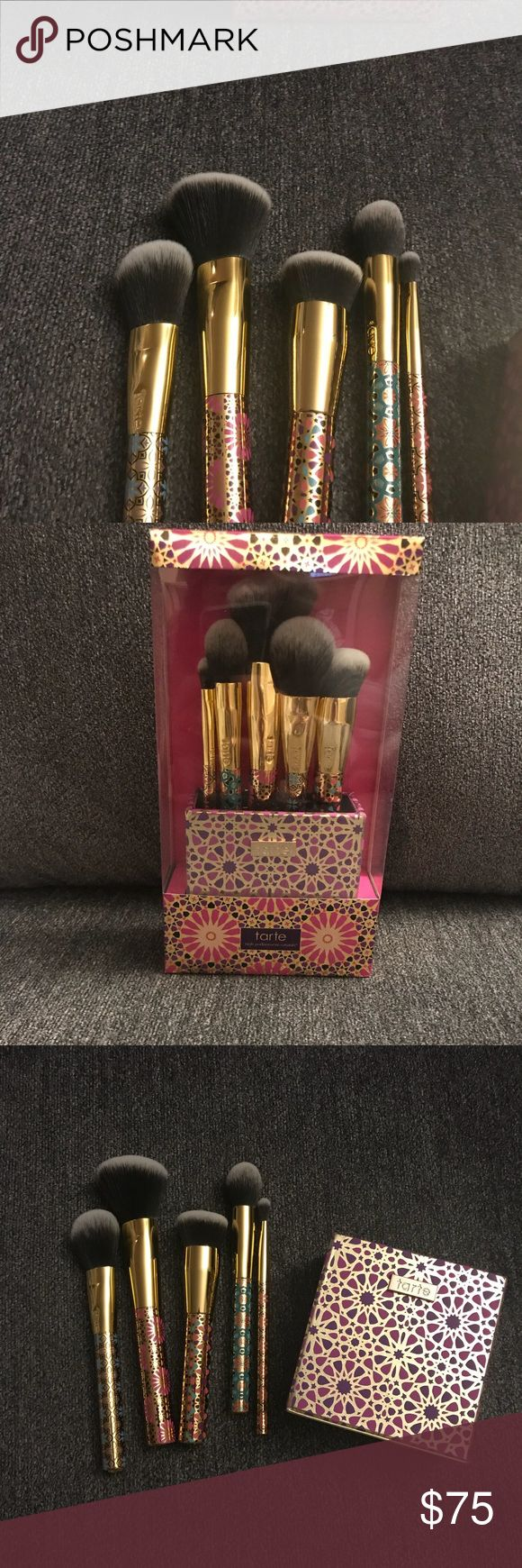 Tarte makeup brush set Brand new in the box, I received two for Christmas. tarte Makeup Brushes & Tools
