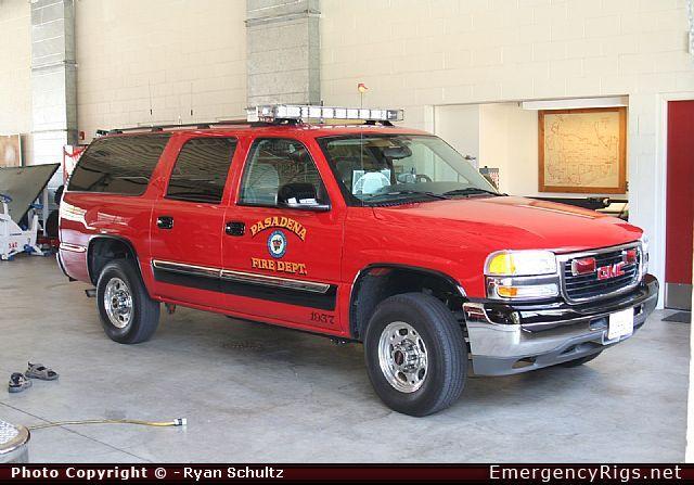 GMC Suburban Command Pasadena Fire Department Emergency ...