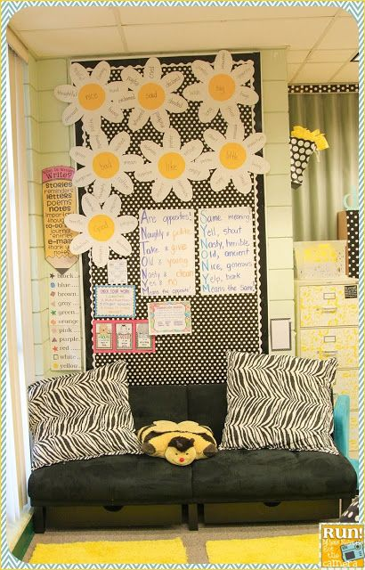 Black white and yellow classroom pictures classroom for Decor synonym
