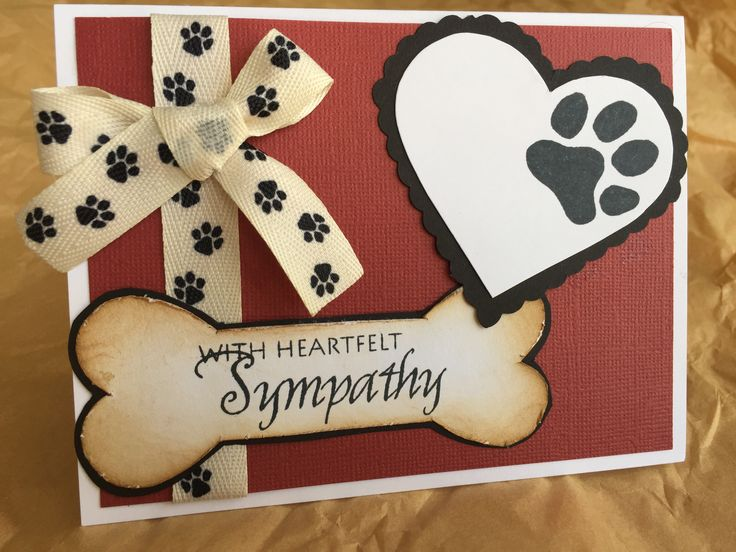 Pet sympathy card for Kim & Doug's dog Dakine. September 2016.