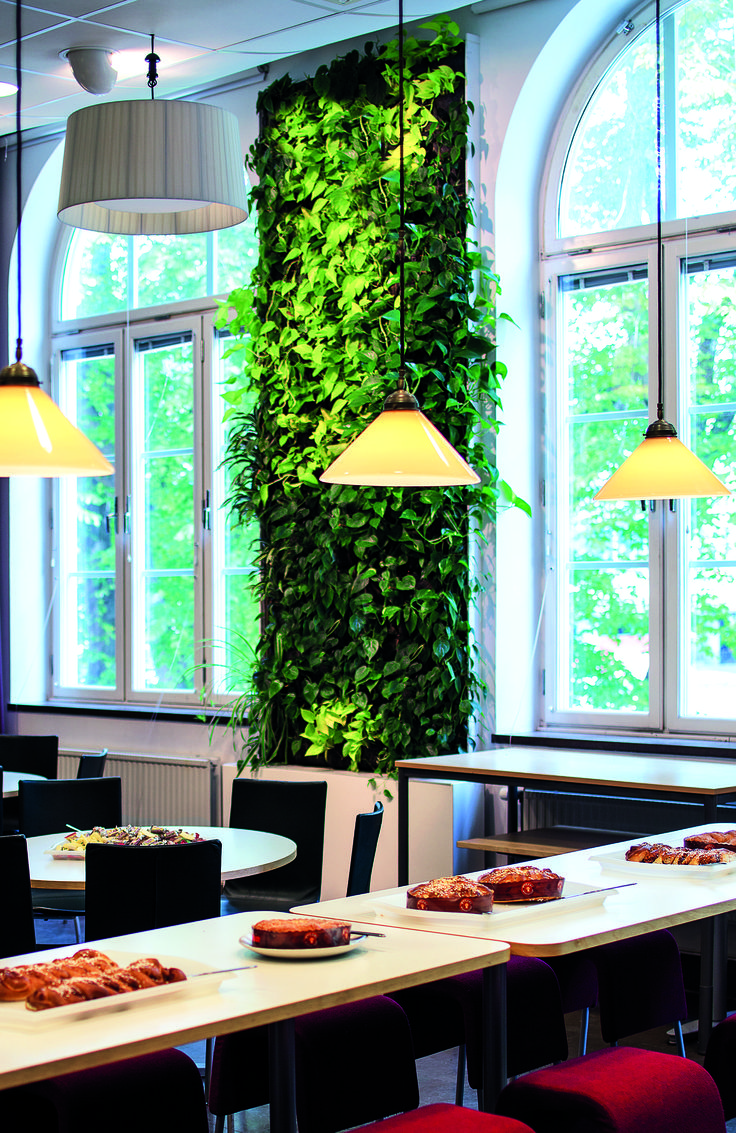 Our installation in a canteen for an office space, Stockholm