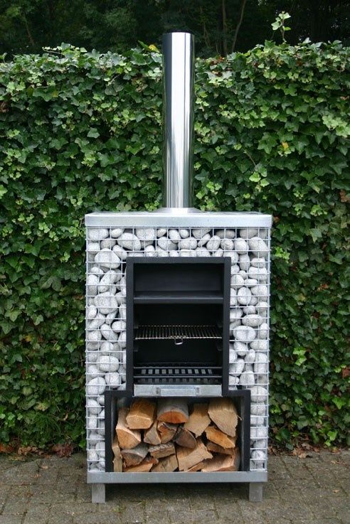 Gabion outdoor stove/grill | FollowPics