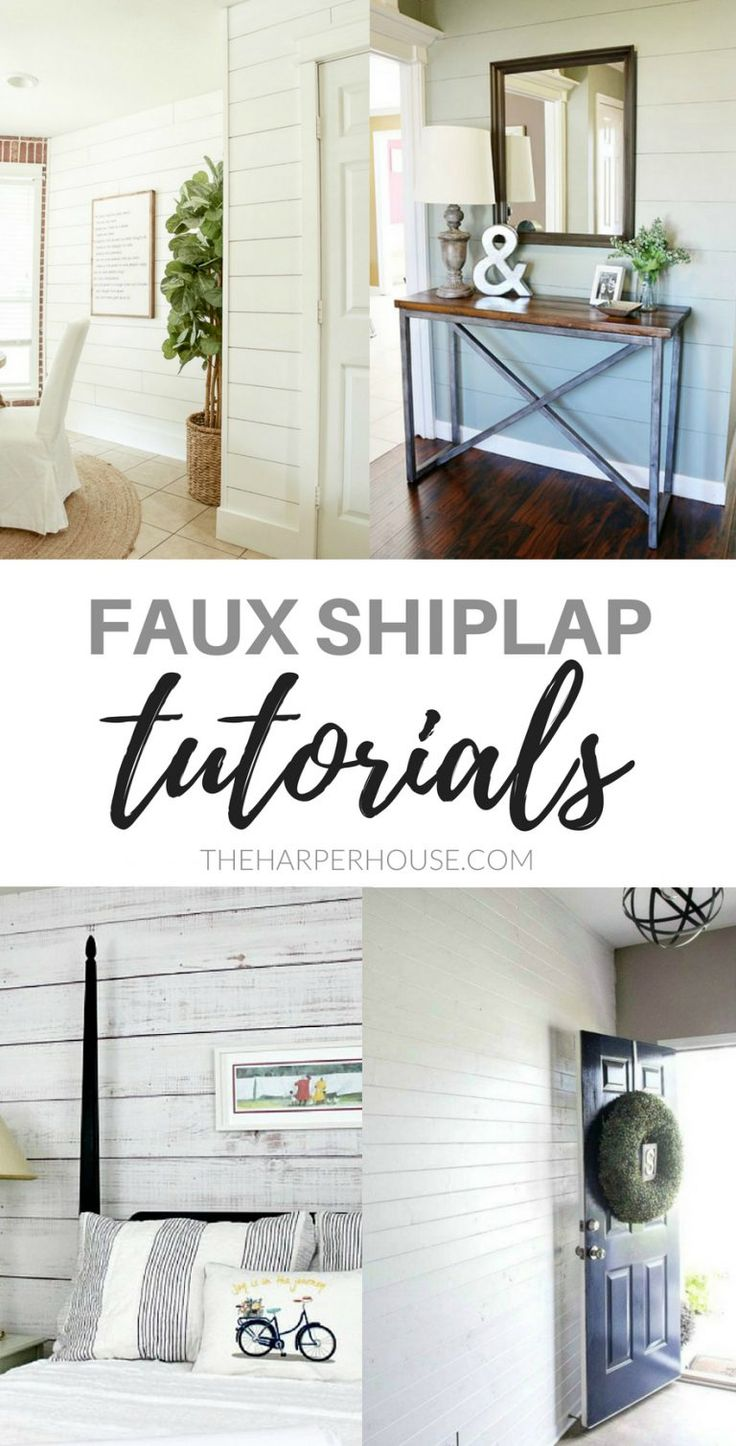 Faux Shiplap Ideas and Tutorials for All DIY Skill Levels