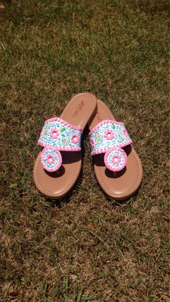 Hey, I found this really awesome Etsy listing at https://www.etsy.com/listing/193215045/lilly-pulitzer-inspired-sandals