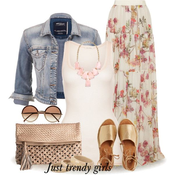 A fashion look from April 2015 featuring American Vintage tops, maurices jackets and Giambattista Valli skirts. Browse and shop related looks.