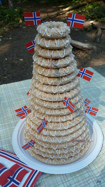 Kransekake - Norwegian Ring Cake. Love this, can't wait to eat it again, it's been too long