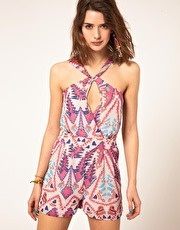the aztec print playsuit is calling my name