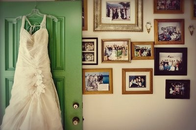 dress with old photos