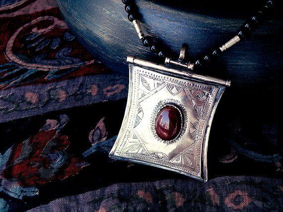 Amulet Tuareg jewelry tuareg necklace Berber by CarmelaRosa
