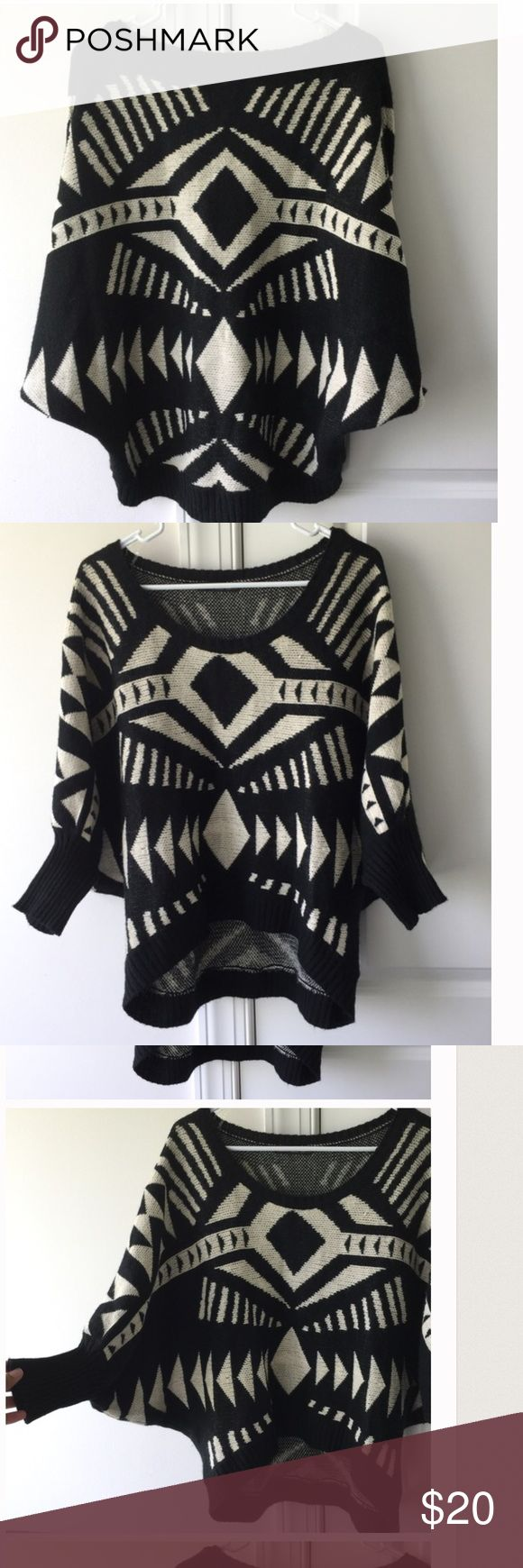 Aztec Batwing Pancho REPOSH-Loved this item! But it looks terrible on me 😢 from a very reliable and amazing posher who never disappoints. Check out her closet! @viscosity or @viscositysclost. No flaws. Her description is posted on photo 4. It is accurate. Tops