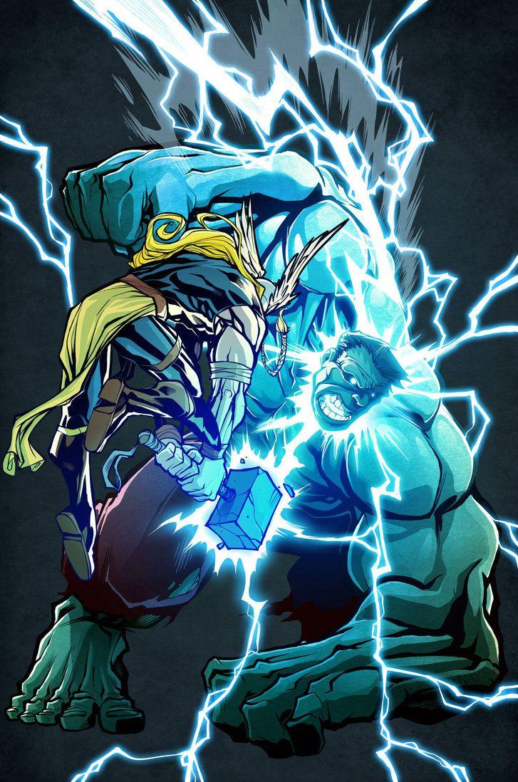 #Hulk #Fan #Art. (Hulk--Thor-1) By: Tauhid. ÅWESOMENESS!!!™ ÅÅÅ+