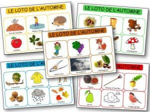 Afin de travailler sur le thème de l'automne en ce début de seconde période, j'ai créée un jeu ce loto de l'automne que je vais proposer en activité à mes loustics de maternelle dès lundi pour agrémenter une séance de langage. Le loto de l'automne se compo