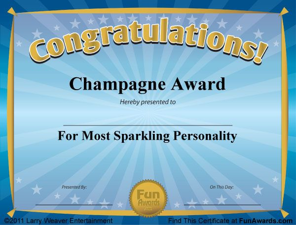 10 best Funny Award Certificates images on Pinterest Award - Silly Certificates Awards Templates