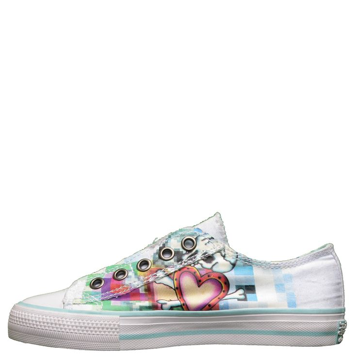Ed Hardy Lowrise Oz Sneakers for Kids Girls - White - Yvonne's #shoes
