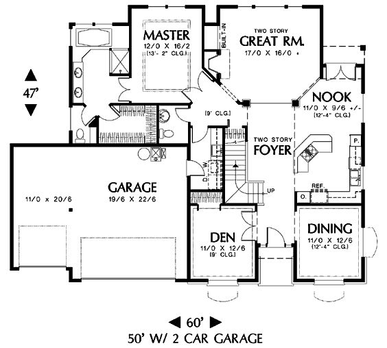 Main floor house blueprint house plans pinterest for Blueprint of a house with measurements