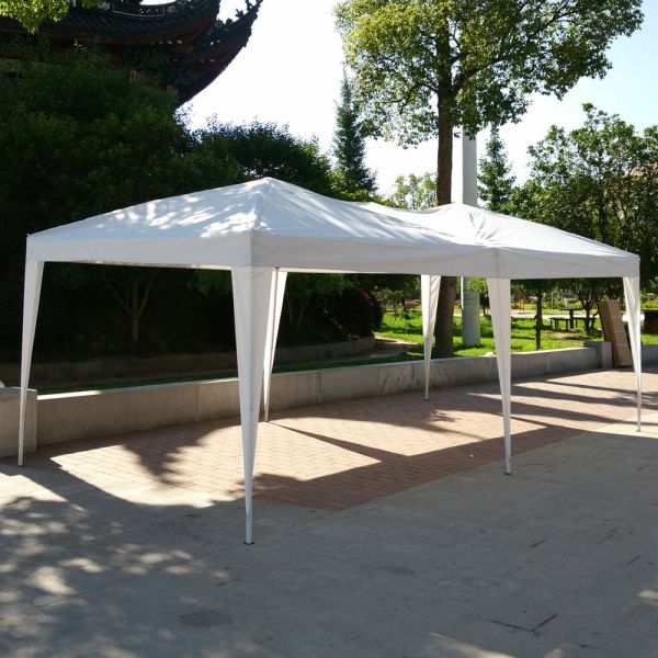 10′x 20′Wedding Party Tent Folding Gazebo Beach Canopy W/Carry Bag White