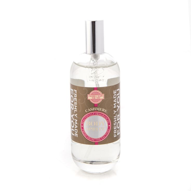 Fm4u Cashmere Body Spritz 100ml - Luxurious indulgence and comfort for your bathtime ritual. These products gently fragrance the skin whilst pampering your body. The perfect way to unwind, the gentle formulas will moisturise and comfort your skin, leaving it gently fragranced and nourished. GoodiesHub.com