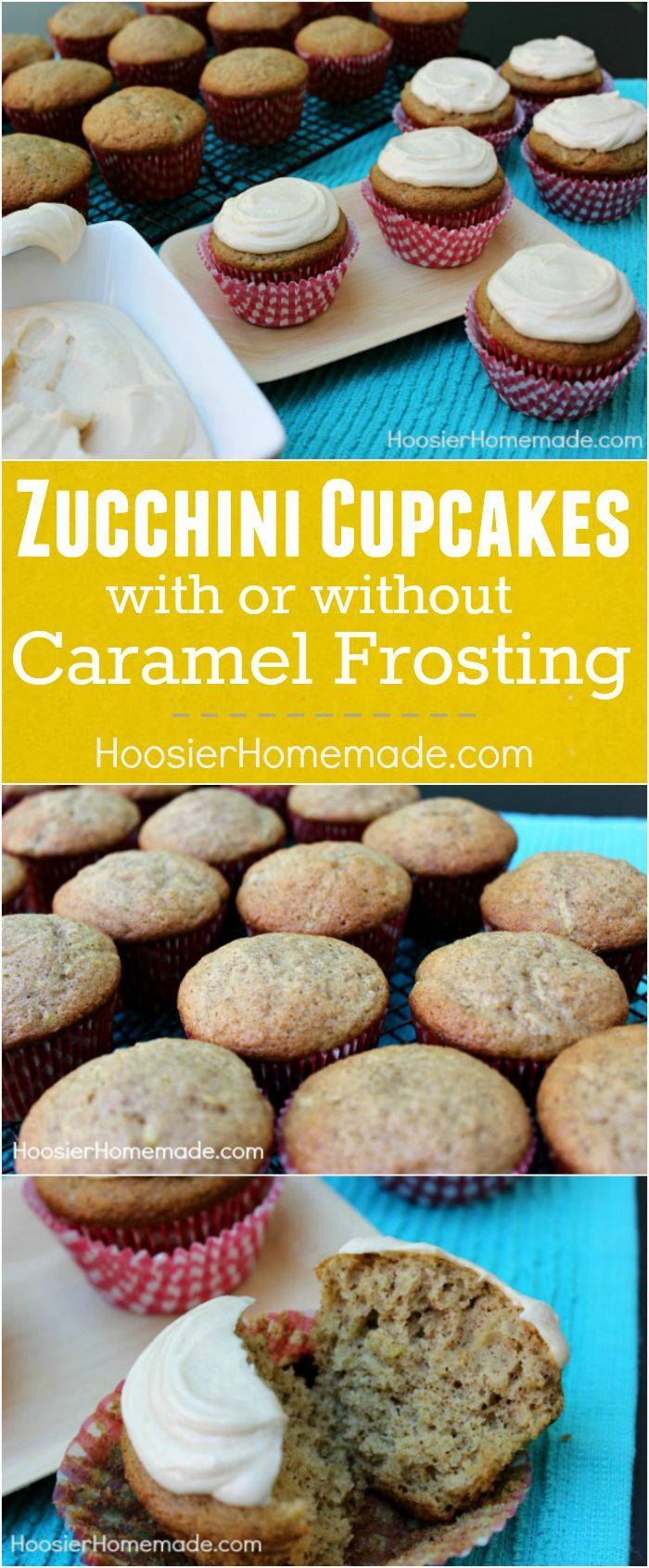 It's that time of year, when our gardens are full of zucchini! Whip up a batch of these Zucchini Cupcakes with Caramel Frosting or leave the frosting off for a delicious breakfast treat! Kids will love them too, and they will never know they have veggies in them! Click on the Photo for the Recipe!