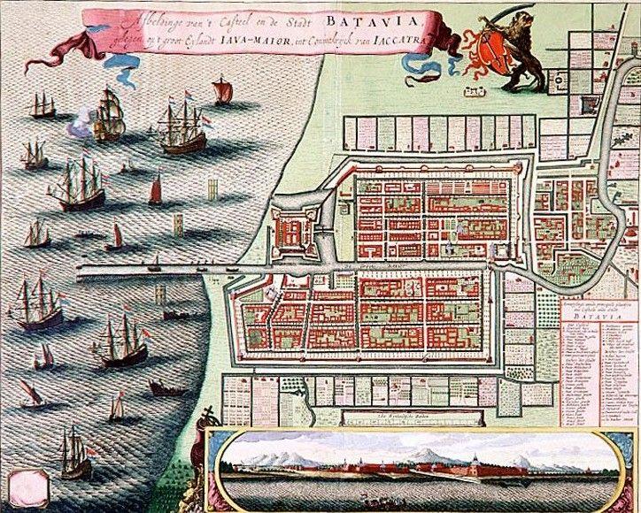 Batavia ca. 1740, after original from 1652 by C. de Jonghe