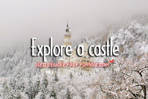 Before I Die Bucket Lists | before i die, bucket list, castle, dearbucketlist - inspiring picture ...