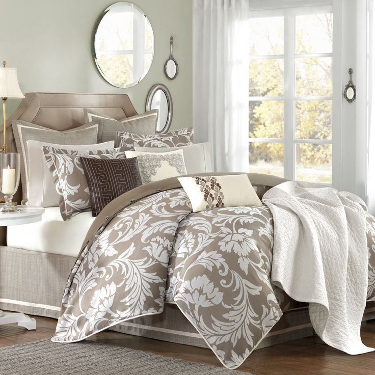 Bellamy Comforter Set Sophisticated floral Jacquard in