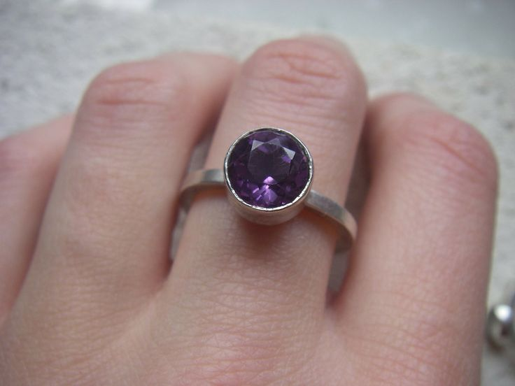 February Amethyst Lost & Found Stacking Ring