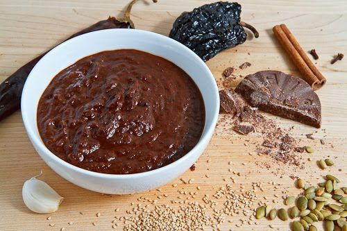 Mole Sauce is sooo amazing! Its such a crazy mixture of ingredients. It can take some time to make, but if you have the time its worth it! (you can always freeze it.)