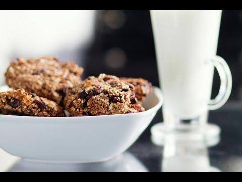 Zdrowe kakaowe ciastka owsiane z bakaliami - skosztuj.to - slow food