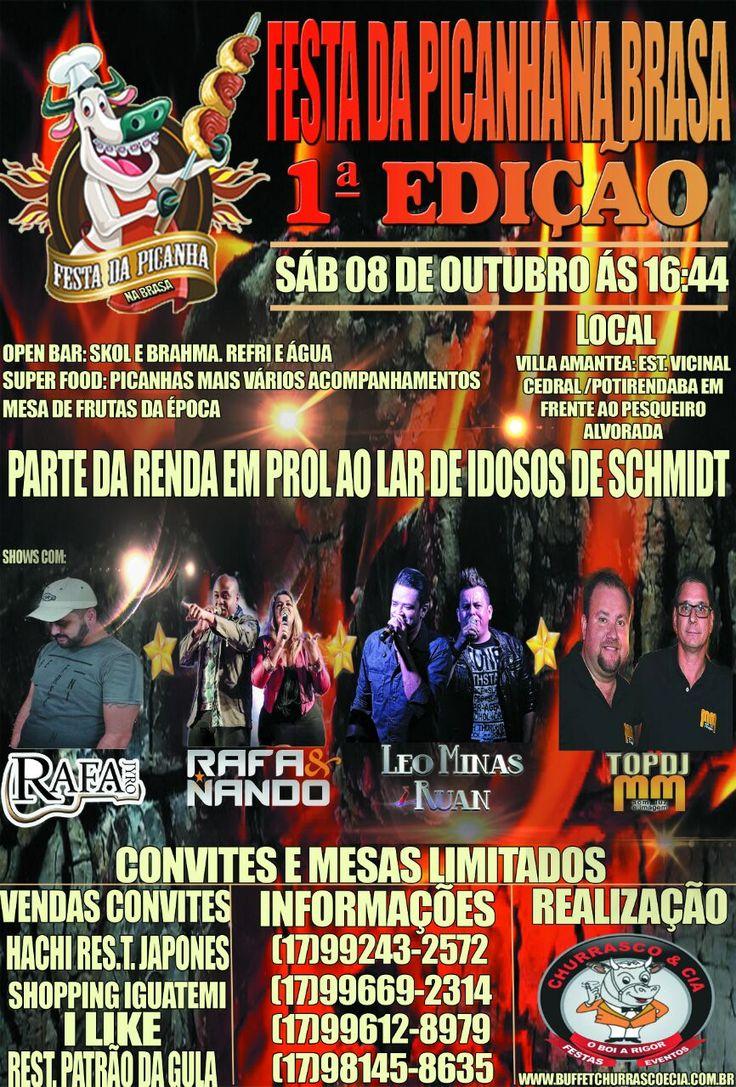 1a Festa da Picanha Beneficente. Saiba mais no Blog: www.revistanovasnoivas.blogspot.com