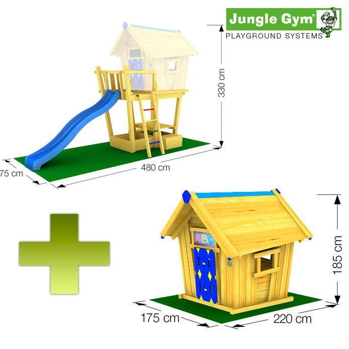 spielturm jungle gym kletterturm crazy playhouse kinder. Black Bedroom Furniture Sets. Home Design Ideas