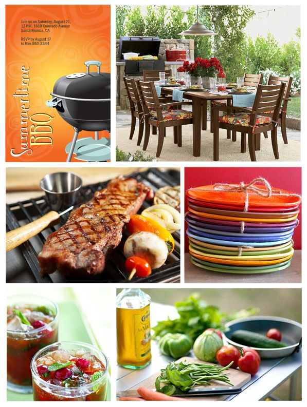 Summer BBQ's should be fun and colorful! Coordinate with colored plates or even napkins and cups!