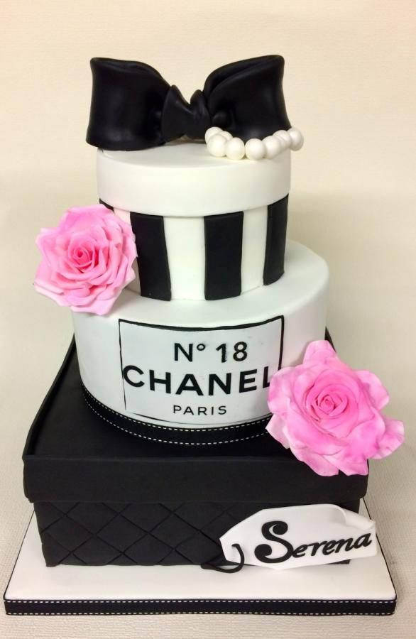 18th Chanel Birthday Cake - Cake by sweetlilylux